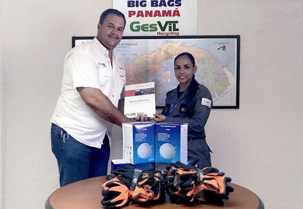 Donación de EPIS para proyecto de reciclaje Ecosólidos en La Joyita
