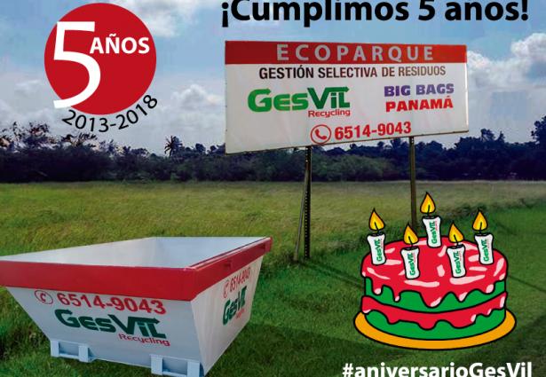 GesVil Recycling cumple cinco años. Recicladora en Panamá desde 2013